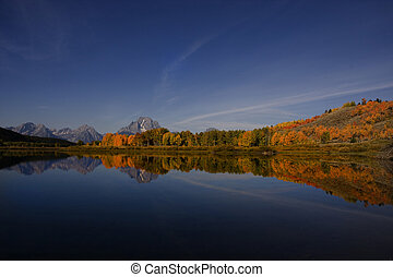 Oxbow Bend in Grand Teton National Park  Just Before Dark