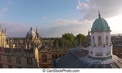 oxford, cidade, vista aérea