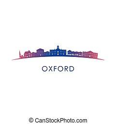 oxford, contorno, misisipí, silhouette.