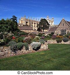 oxford., cristo, catedral, iglesia