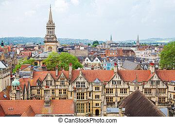 Oxford. England - Cityscape of Oxford. Oxfordshire, England