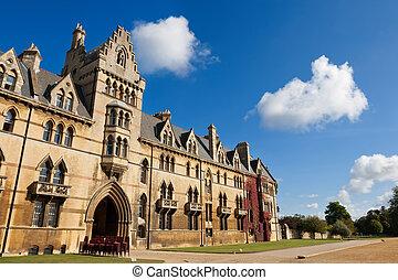 oxford, iglesia, inglaterra, cristo, college.