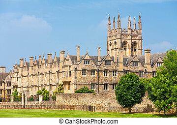 oxford, merton, regno unito, college.