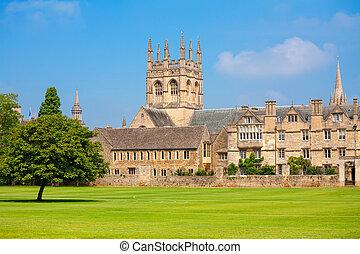 oxford, merton, reino unido, college.