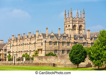 oxford, merton, royaume-uni, college.