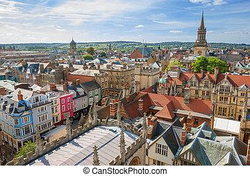 Oxford Skyline. England - Cityscape of Oxford. England, ...