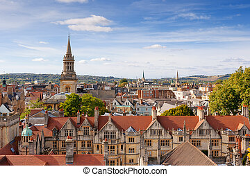 Cityscape of Oxford. England, Europe