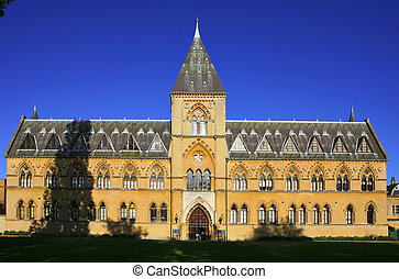 The Natural History Museum at Oxford University, a listed building noted for its neo-gothic architecture.