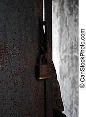 oxidado, cerradura