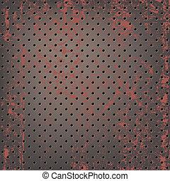 oxidado, malla, textura, metálico