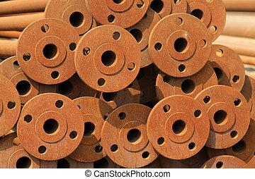 oxidado, oxidación, tubo