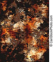 oxidado, plano de fondo