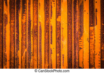 Texture of a oxidized and rust metal door.