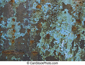 painted surface oxidized by the passage of time