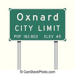 Oxnard City Limit road sign