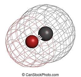 Protoxyde mol cule essence chimique co toxique - Oxyde de carbone ...