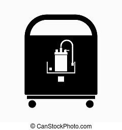 oxygène, mobile, portable, concentrateur