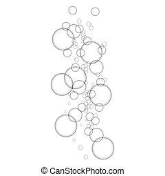 Oxygen bubbles icon, realistic style