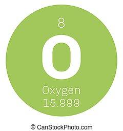 Periodic table element oxygen icon periodic table element oxygen oxygen chemical element urtaz Choice Image