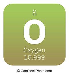 Periodic table element oxygen icon periodic table element vector oxygen chemical element urtaz Gallery