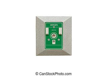 oxygen  plug on wall ,isolate