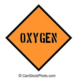 oxygen sign on white background
