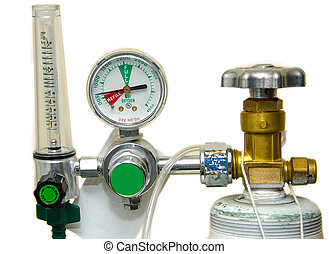 Oxygen Tank and Regulator Gauges - Oxygen Tank and Regulator...