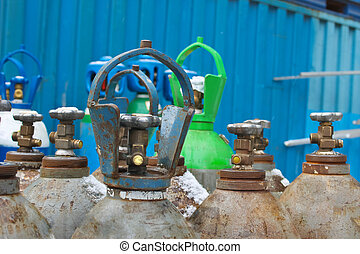 Oxygen tanks of stock industrial enterprises