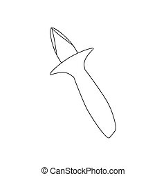 Oyster knife illustration on the white background. Vector...