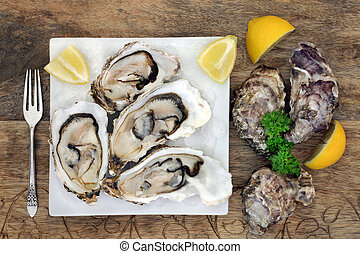 Oyster Shellfish with Lemon