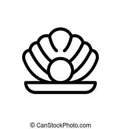 oyster thin line icon