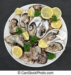 Oysters Lemon and Parsley