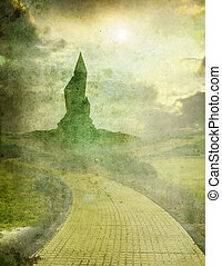 oz 1 - yellow brick road leading to emerald city