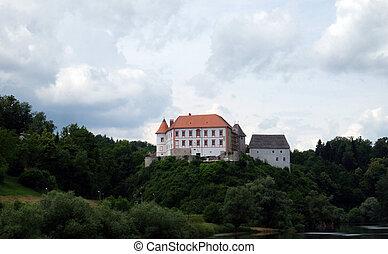 Ozalj Castle, is a castle in the town of Ozalj, Croatia on June 11, 2016