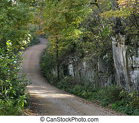 Ozark back road - A country road winds through the Ozark ...