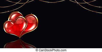 ozdoba, chorągiew, valentine