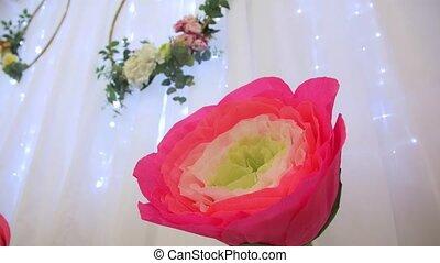 ozdoba, papier kwiat