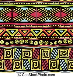 ozdoba, seamless, afrykanin