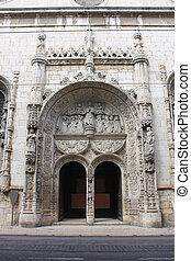 ozdobený, vchod, do, lisabon