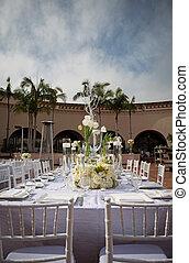 ozdobny, beautifully, miejsce rozprawy, ślub