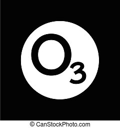 ozon, design, abbildung, ikone