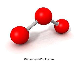 ozone molecule - a 3d render of an ozone molecule