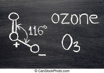 ozone - name, chemical formula and structure diagram of...