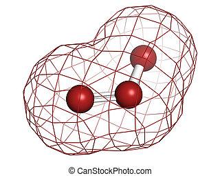 ozono, (trioxygen, o3), molecola, chimico, structure.