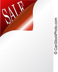 página, com, texto, venda