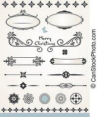página, decorações