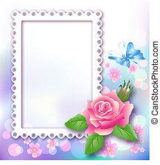 página, disposición, álbum foto