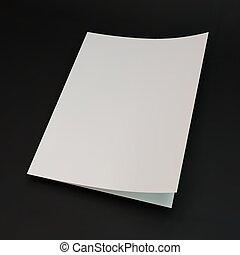 página en blanco, plantilla, para, diseño, layout., 3d,...