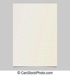 página, modelo, gradiente, dinâmico, abstratos, -, vetorial, desenho, fundo, curvado, folheto, grade, documento