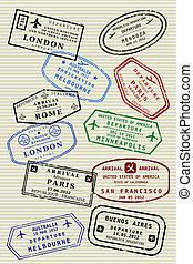 página, passaporte